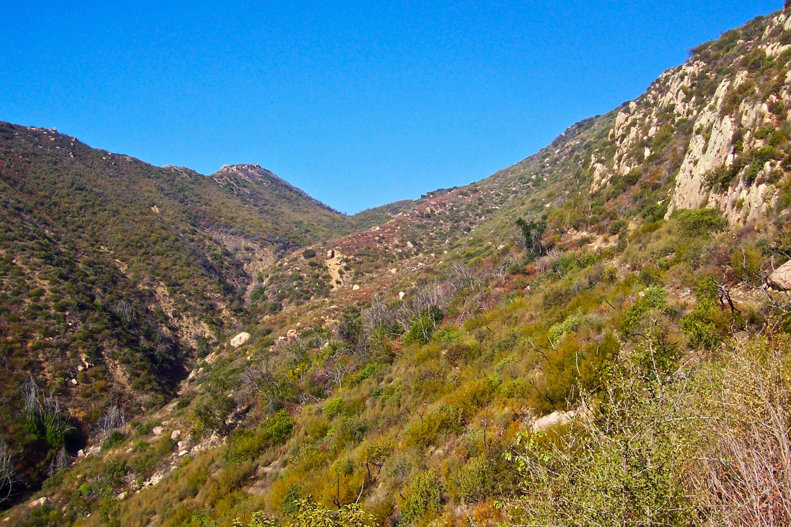 The Connector Trail, Rattlesnake Canyon to Mission Canyon