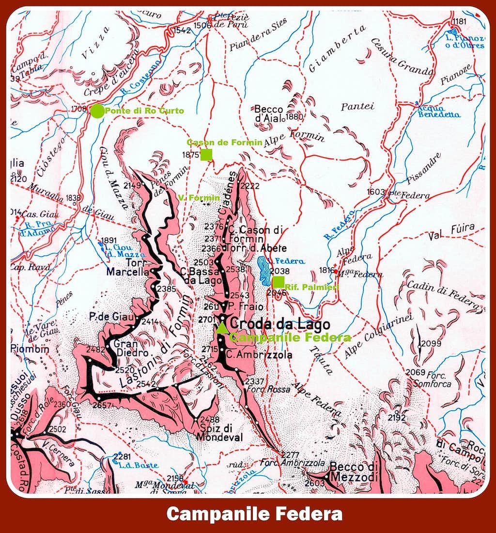 Campanile Federa map