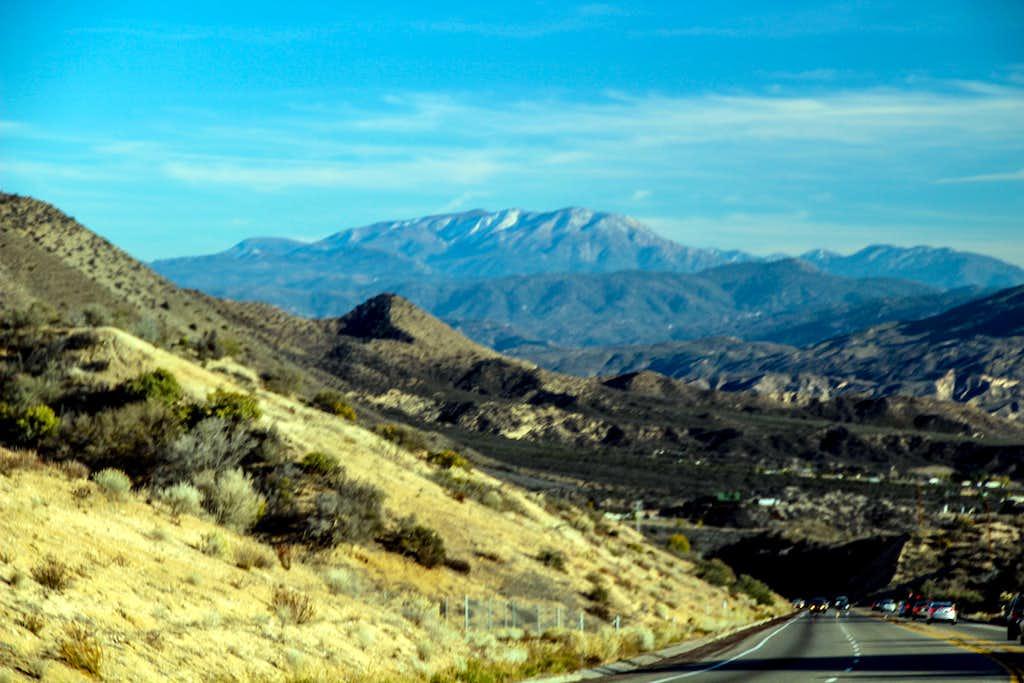 San Bernardino Mountains dropping into Coachella Valley