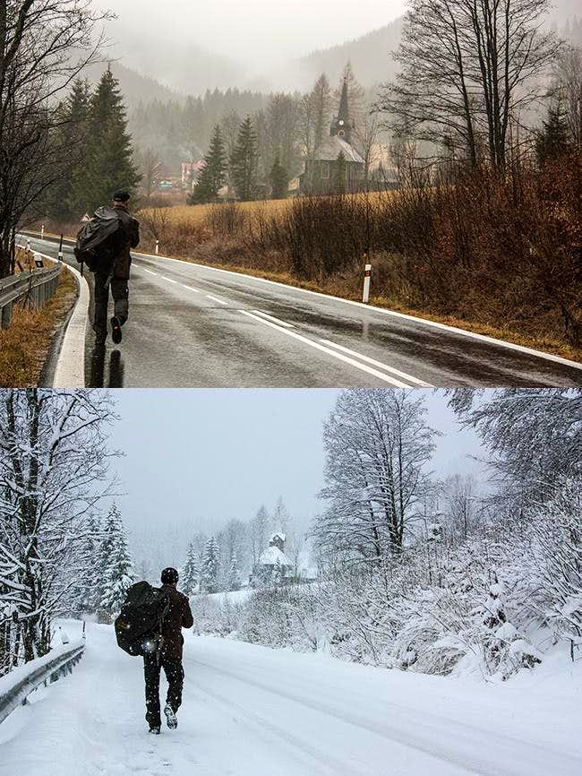 The Day the World Turned White. Fall ends, Winter arrives to Tatras