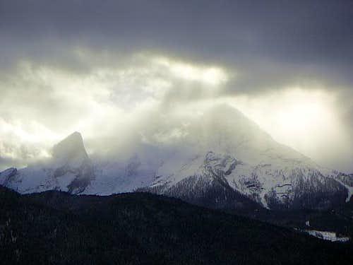 Mystic light over Watzmann...