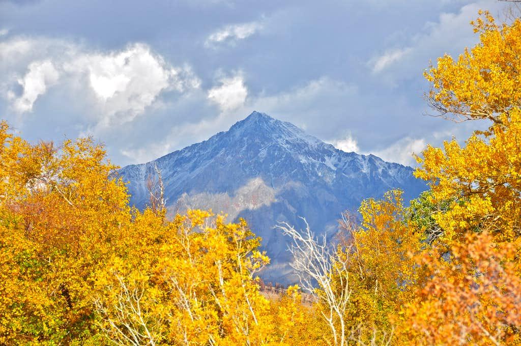 Mount Tom seen from Bishop Creek