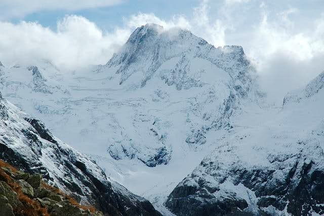 Les Bans north face. Glacier...