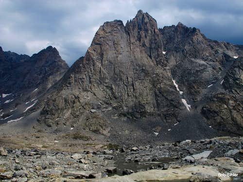 Mount Helen from Twins Glacier
