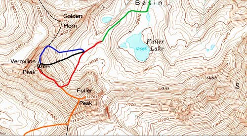 Vermilion Peak Routes