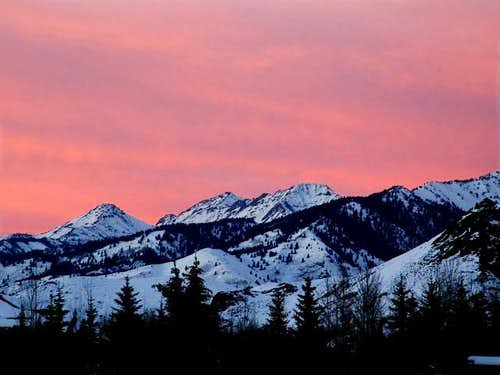 Kent Peak at sunset from...