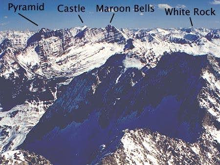 West face of Bells above...