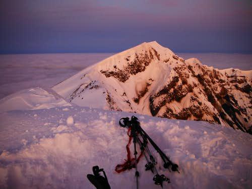Alpenglow on Mount Saint Helens
