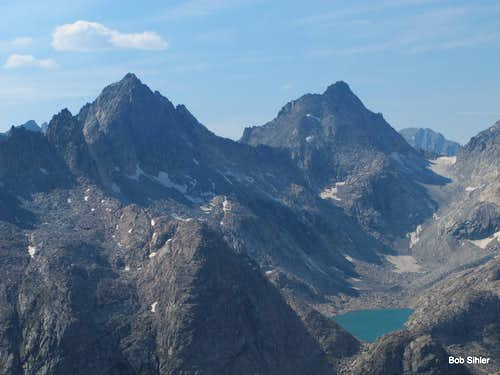 Henderson Peak, American Legion Peak, and Summer Ice Lake