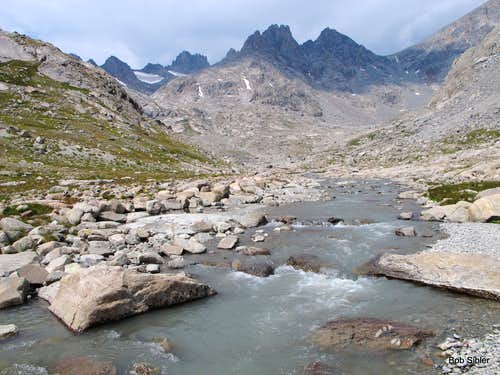 Glacial Stream in Upper Titcomb Basin