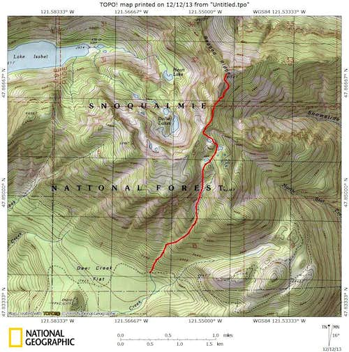 Point 5150 - Ragged Ridge High Point route map