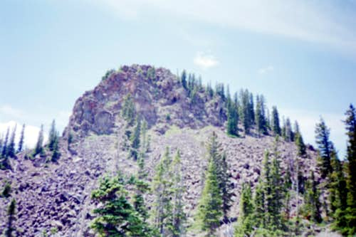 Picture 1:  A view of the north face of North Mamm Peak.