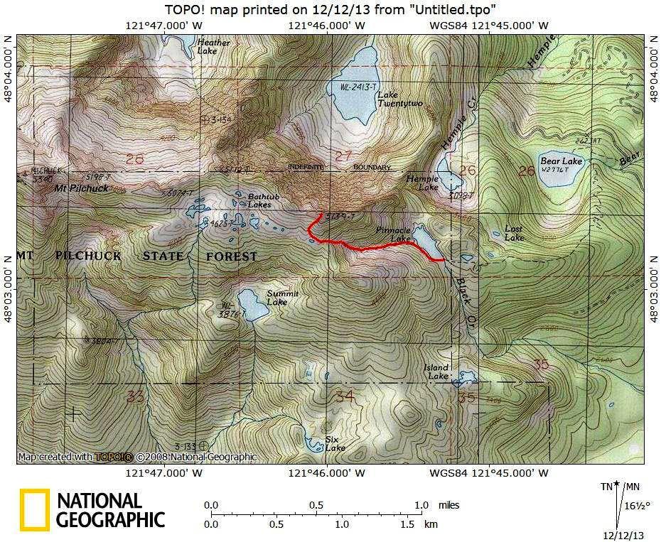 Hermans Peak route map