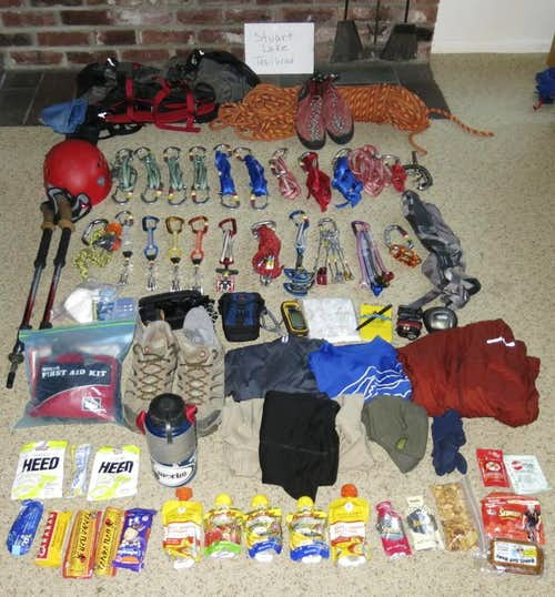 Gear for Prusik Peak in a day