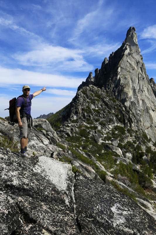 Prusik Peak from Prusik Pass