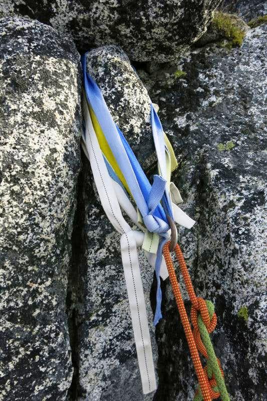 Old tat on Prusik Peak