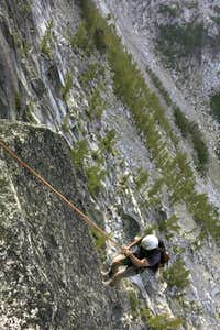 Rappelling Prusik s North Face