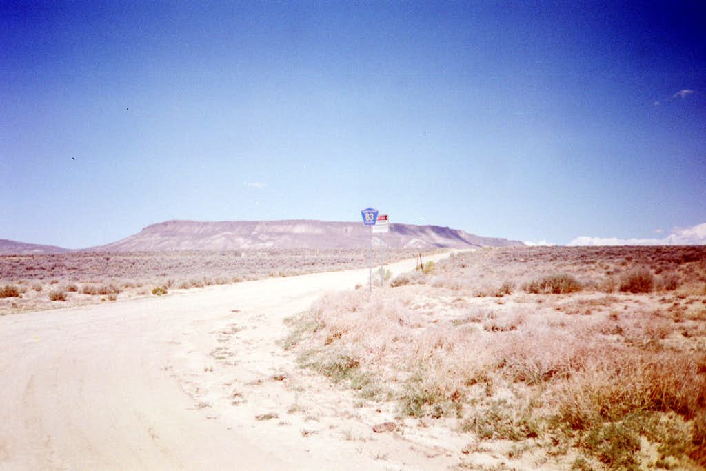 The turnoff to County Road 83.