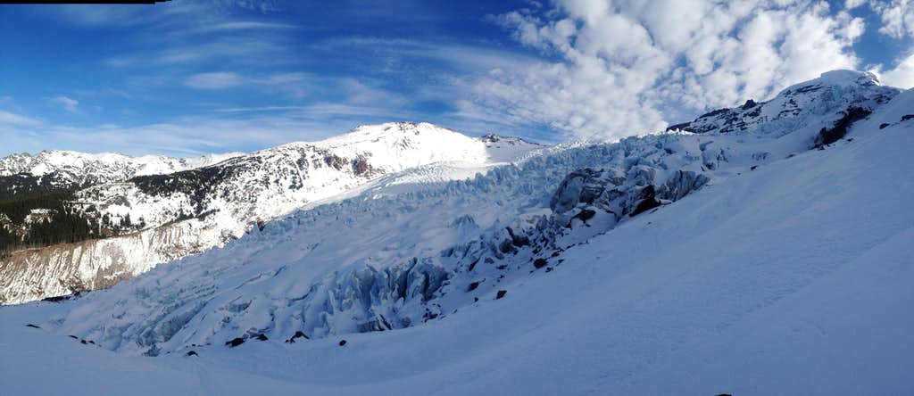 View from the mountaineers route, Mt. Baker