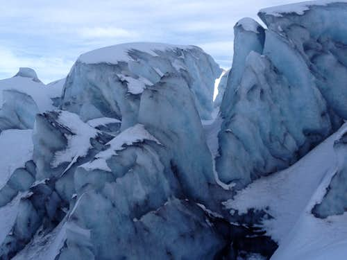 Blue Ice on Mt. Baker