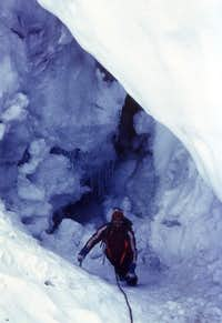 Grande Rousse Terminal Crevasse or Bergschrund Going to Hell 1980