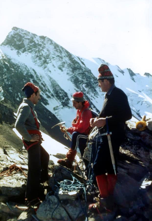 Grande Rousse North Summit from Becca Rabuigne 1980