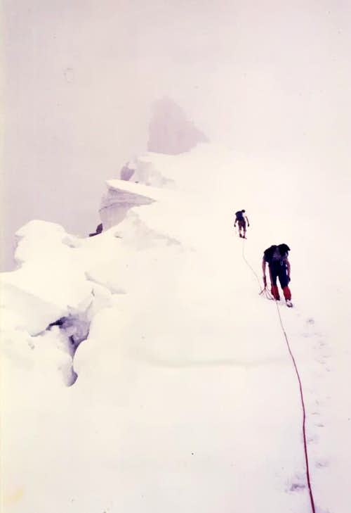 Grande Rousse complete Traverse Frames to South 1980
