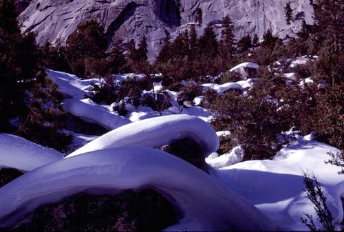 Snow-Capped Boulders