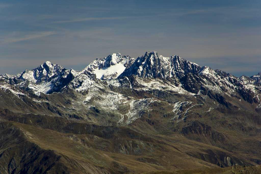 Eiskastenspitze (3371m), Bliggspitze (3453m), Vordere Ölgrubenspitze (3452m)