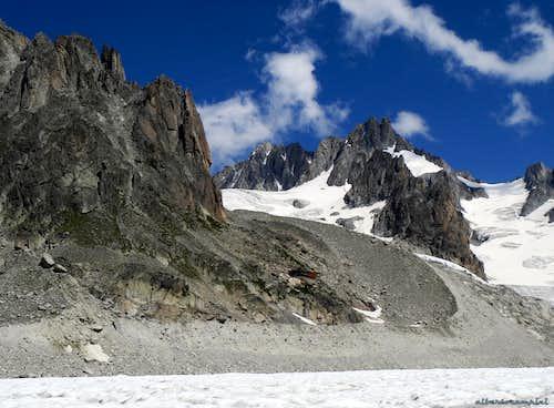 Aiguille du Refuge from Glacier d'Argentière