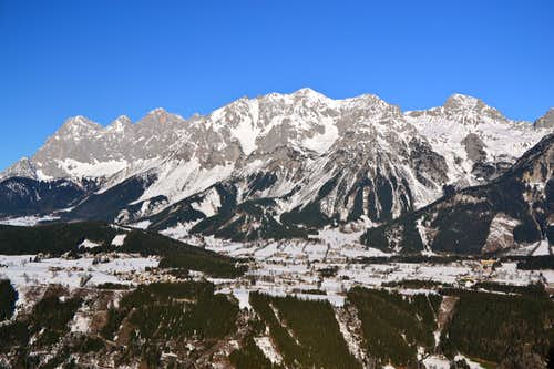 Dachstein group from the south in winter