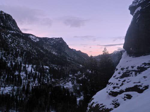 Sunrise over Camp Bird Road