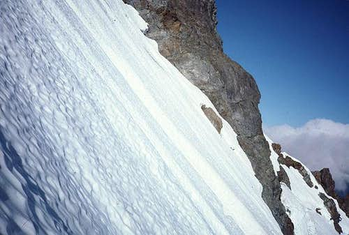 Arriving at the couloir from...