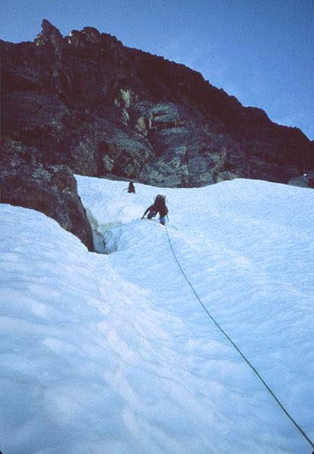 Climbing the couloir, wishing...