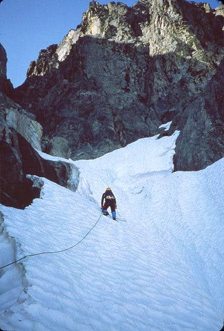 Top of the couloir section....
