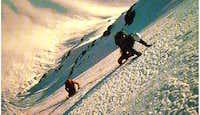 climbing the nord face till...