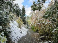 Fall snow in Rock Canyon