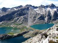 Titcomb Lakes from Fremont Peak