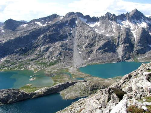 Titcomb Lakes from Fremont Peak