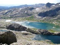 Lower Titcomb Lakes from Fremont Peak