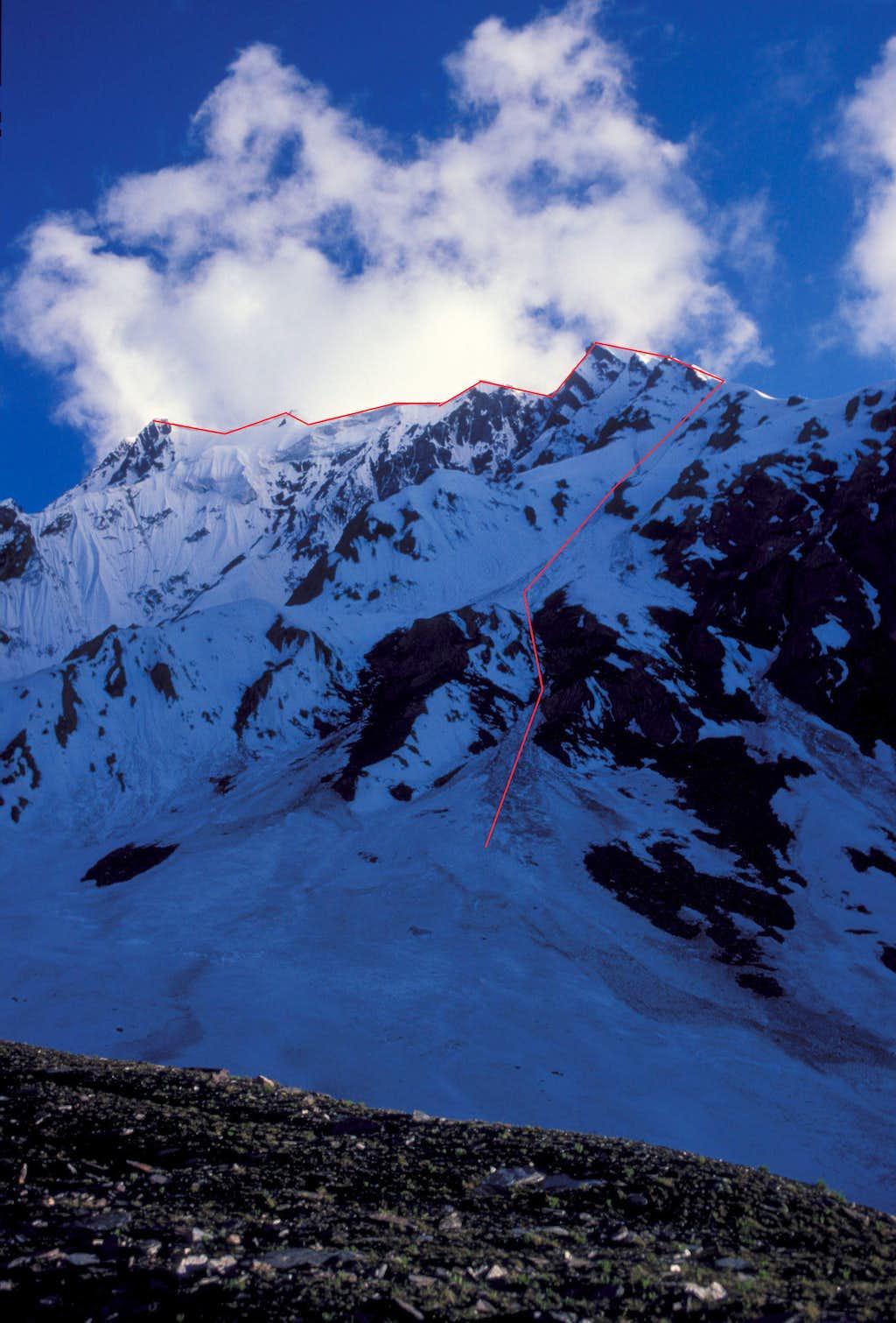 Shaltar Peak Route