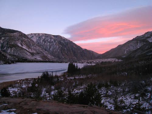 East Rosebud Lake sunrise