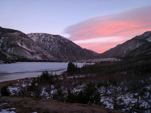 East Rosebud Lake sunrise