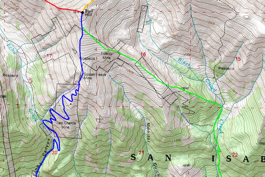 Bull Hill South Map