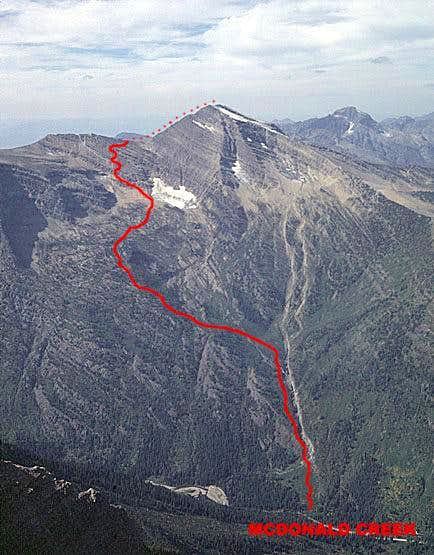 Heavens Peak, South Ridge Route