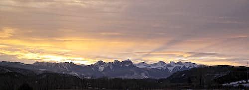 Sunrise over Cimarrons