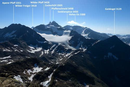 Gaiskogel with surrounding peaks