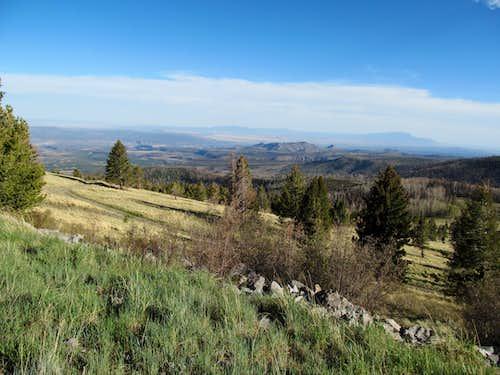SE from near summit
