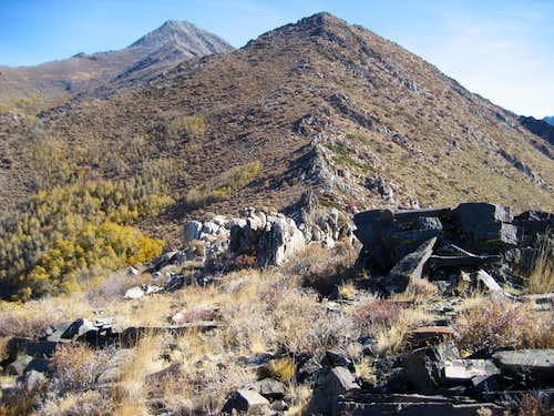 Typical Granite Spine Along West Ridge Santa Rosa Peak