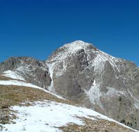 Nearing the ridgetop between...